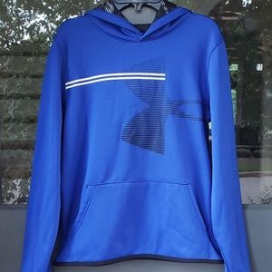 NWOT Under Armour Hoodie Pullover Blue Sz XL